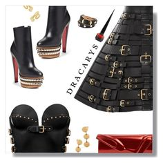 DRACARYS by peony-and-python on Polyvore featuring polyvore fashion style FAUSTO PUGLISI Christian Louboutin Balenciaga Charlotte Chesnais Marina Hoermanseder clothing