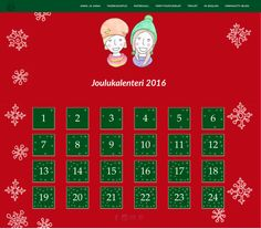 Värinauttien joulukalenteri 2016. Joka päivä uusi tarina ja värityskuva. Christmas Calendar, Christmas Stuff, Advent, School, Kids, Christmas Things, Young Children, Boys, Children