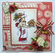 Handmade card, Hobby House Topper and Embellishments