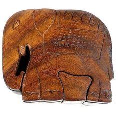 Handcrafted Sheesham Wood Elephant Puzzle Box
