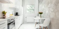 Valkoinen keittiö+ seinä!