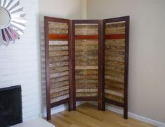 Custom Made Rustic Room Divider Made From Reclaimed Lumber