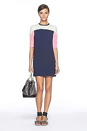 a mod twist on color blocking made casual with the ankle strap sandal