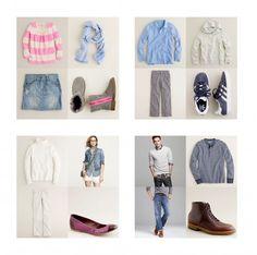 family photo wardrobe coordination
