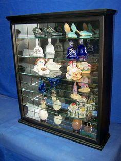 Black Wall Hanging Curio Cabinet By Billscustomwoodworks On Etsy, $169.95