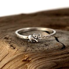 Elephant ring sterling silver. Tiny sterling silver ring