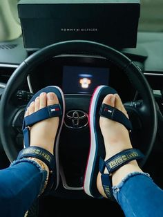 Sport Sandals, Jordan 3, Womens Shoes Wedges, Wedge Shoes, Girly, Flats, Sneakers, How To Wear, Nail Designs