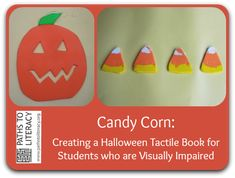 Cute tactile Halloween book for children who are blind or visually impaired!