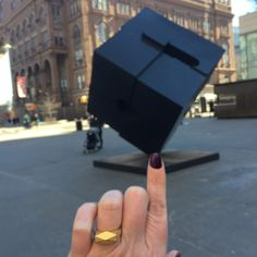 Chunky Hedron Ring meets Astor Place Cube. Fun with geometric solids.  3d printed steel jewelry. https://www.shapeways.com/product/MC9PWCM2V/chunky-hedron-ring-in-polished-gold-steel?optionId=61903813&li=shop-inventory