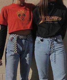 @haileymariemcnabb on instagram Aesthetic Fashion, Aesthetic Grunge Outfit, Aesthetic Clothes, Cute Edgy Outfits, Retro Outfits, Grunge Outfits, Grunge Fashion, 90s Fashion, Vintage Outfits