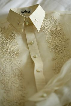 Homegrown: Filipiniana Wedding Theme – Cherryblossoms and Faeriewings Barong Tagalog Wedding, Barong Wedding, Filipiniana Wedding Theme, Filipiniana Dress, Wedding Groom, Wedding Attire, Wedding Dresses, Bridesmaid Dresses, Wedding Blog