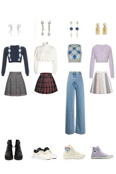 Kpop Fashion Outfits, Stage Outfits, Edgy Outfits, Korean Outfits, Dance Outfits, Korean Girl Fashion, Look Fashion, Cute Skirt Outfits, Mode Kpop