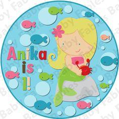 Birthday Girl IRON ON TRANSFER  Little Mermaid by babyfables, $5.00