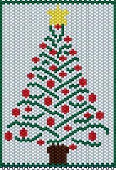 Pony Bead Patterns, Beaded Jewelry Patterns, Peyote Patterns, Beading Patterns, Beaded Christmas Ornaments, Christmas Cross, Handmade Christmas, Xmas, Christmas Tree