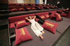 Bed Cinema in Budapest,Hungary. Home Theater Room Design, Home Cinema Room, At Home Movie Theater, Home Theater Rooms, Home Room Design, House Design, Bed Cinema, Movie Bedroom, Recording Studio Home