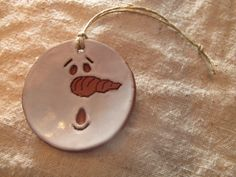 Ceramic Christmas Ornament  Handcarved and by ThePotterShed, $6.00