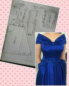 Dress pattern off shoulder 39 ideas Long Dress Patterns, Dress Making Patterns, Easy Sewing Patterns, Blouse Patterns, Clothing Patterns, Blouse Designs, Neckline Designs, Bodice Pattern, Pants Pattern