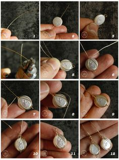 This jewelry making tutorial shows you how to make Herringbone weave wire wrapping and its two variations. jewelry making how to make herringbone weave wire wrapped earrings Bijoux Wire Wrap, Wire Wrapped Earrings, Wire Wrapped Pendant, Wire Jewelry Making, Jewelry Making Tutorials, Make Jewelry, Hanging Jewelry, Jewelry Tree, Heart Jewelry