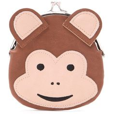 Monkey Coin Purse - Womens accessories, jewellery and bags | shop... (12 BAM) ❤ liked on Polyvore featuring bags, wallets, monkey bag, pink bag, change purse wallet, forever 21 bags and coin pouch wallet