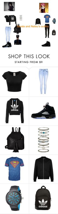 """""""Untitled #26"""" by shiyanemcnab on Polyvore featuring Freaker, Glamorous, Topshop, Jordan Brand, Lucky Brand, Accessorize, Bioworld, Topman, Lacoste and adidas Originals"""