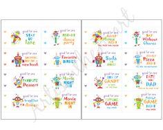 Kids Coupon Book printable DIY PDF Robot instant download