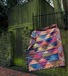 """""""Haze Kilim"""" Quilt by Kaffe Fassett in the book 'Simple Shapes, Spectacular Quilts' (Melanie Falick Books)"""