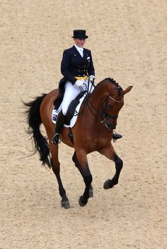 Kristy Oatley of Australia riding Clive competes in the Dressage Grand Prix on Day 6 of the London 2012 Olympic Games at Greenwich Park on August 2, 2012 in London, England. 68.222%