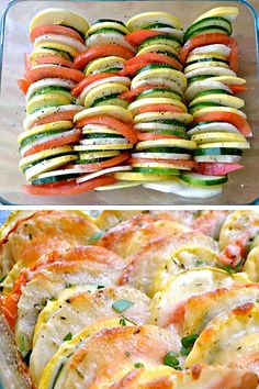 summer vegetable tian. I made this last year and it was a HIT. it's simple, fun and looks great when it comes out of the over. A MUST TRY if you love veggies like I do!