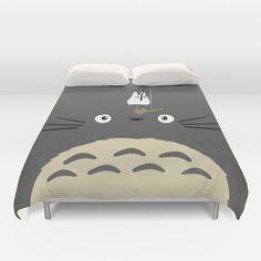 Cute Totoro Duvet Cover by Minette Wasserman - $99.00