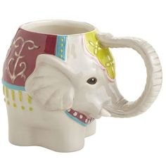 Elephant Mug Elephant Mugs, Elephant Love, Elephant Stuff, Thai Elephant, Elephants Never Forget, Gifts Under 10, Cute Mugs, Pottery Mugs, Secret Santa