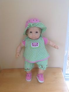 American Girl Bitty Baby's Summer Picnic 'watermelon' outfit - retired MIP