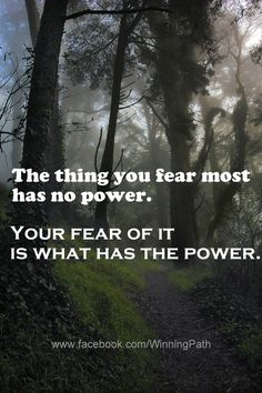 Practice surrendering fear to God, and replace it with Faith in the power of Christ to help us do all things. Great Quotes, Quotes To Live By, Me Quotes, Inspirational Quotes, Facing Fear, Verbatim, Life Happens, Love Words, That Way
