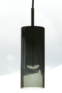 Pendelleuchten mit dunklem Rauchglas-Zylinder BROMPTON - Casa Lumi Brompton, Lighting, Home Decor, Top Hats, Smoking, Pear, Darkness, Light Fixtures, Lights