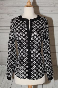 New 212 Collection Womens Sz s 4 6 Damask Button Down Dress Top Blouse Shirt | eBay