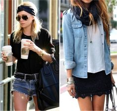 Loving chambray shirts with shorts for summer.