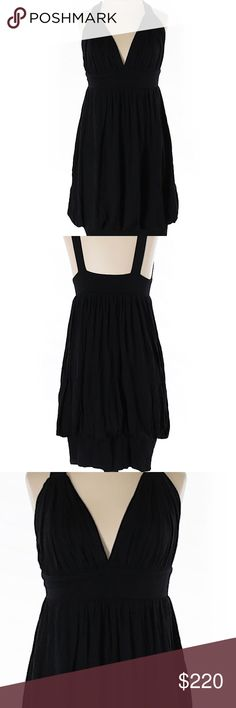 """Black Halo Shift Casual Dress. NWOT. Black Halo Shift Casual Dress  Description * Shift/Sheath silhouette * Midi * Black * Solid *              Size XS Measurements 24"""" Chest, 30"""" Length Materials 100% Micro Modal Condition This dress is in excellent brand new condition. NWOT. Black Halo Dresses Midi"""