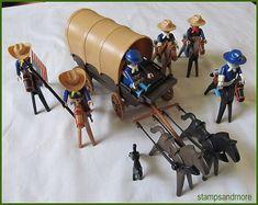 Vintage Geobra Playmobil 1974 Civil War Soldiers - Planwagon - Horses - Many Accessories