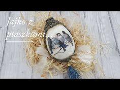 Decoupage# Jajko z ptaszkami# Egg and birds# DIY tutorial. Diy Tutorial, Easter Eggs, Decoupage, Christmas Bulbs, Birds, Crafty, Holiday Decor, Projects, Youtube