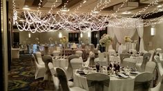 Modern Wedding, Wedding Lights, Round Canopy, Round Chuppah, Single Strand Lights, Hotel Weding