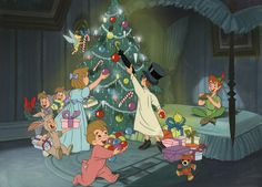 Buy online, view images and see past prices for Original Disney Art Props Peter Pan Christmas presentation art. Invaluable is the world's largest marketplace for art, antiques, and collectibles. Cozy Christmas, Disney Christmas, Christmas Images, Peter Pan Cartoon, Disney Vintage, Cute Christmas Wallpaper, Christmas Cartoons, Peter Pan Disney, Holiday Movie