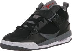 NIKE JORDAN FLIGHT 45 GS Black Red Grey 364757 001 Basketball Youth Boys Sz 5.5 | eBay