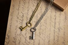 Matching Couple Jewelry His and Her Necklace Key by EmdemJewelry