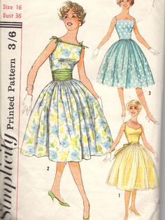 love this vintage dress pattern from Simplicity