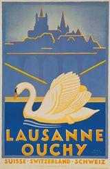 René Martin  Lausanne Ouchy  Année: 1930 #vintage #poster