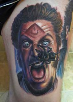 Marv- possibly the best tattoo ever! | 20 Tattoos Inspired By Your Favorite Holiday Movies