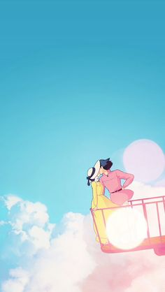 Studio Ghibli Howl's Moving Castle Phone Wallpaper - Back Howl's Moving Castle, Howls Moving Castle Wallpaper, Animes Wallpapers, Phone Wallpapers, Cute Wallpapers, Wallpaper Backgrounds, Wallpaper Samsung, Wallpaper Desktop, Phone Backgrounds