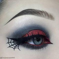 Beauty To Die For Halloween Make-up, Halloween Spinnennetz Eyeliner Tutorial, Halloween Make-up Vide Eye Makeup Art, Goth Makeup, Eye Makeup Tips, Makeup Inspo, Makeup Inspiration, Makeup Ideas, Makeup Tutorials, Zombie Makeup, Makeup Hacks