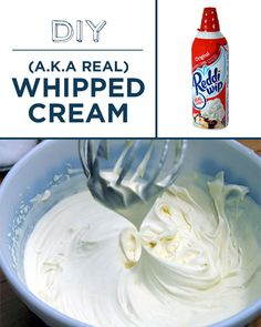 Real whipped cream is so much creamier than the gummy canned stuff.