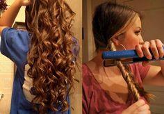 acconciature per capelli lunghi; un'idea con dei boccoli fai da te