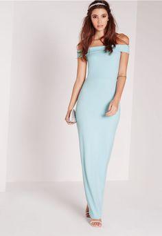 Bardot Maxi Dress Blue - Missguided